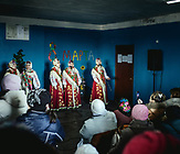 Der Hauptakt ist der Auftritt der Folklore-Gruppe, die von den  Frauen des Dorfes ins Leben gerufen wurde