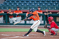 AZL Giants right fielder Diego Rincones (35) bats during a game against the AZL Angels on July 10, 2017 at Scottsdale Stadium in Scottsdale, Arizona. AZL Giants defeated the AZL Angels 3-2. (Zachary Lucy/Four Seam Images)