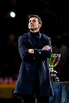 Former captain of Atletico de Madrid Gabriel Fernandez Arenas, Gabi, attends a tribute in his honor after the La Liga 2018-19 match between Atletico de Madrid and RCD Espanyol at Wanda Metropolitano on December 22 2018 in Madrid, Spain. Photo by Diego Souto / Power Sport Images
