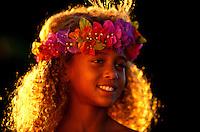 Portrait of a local Hawaiian girl on the Big Island