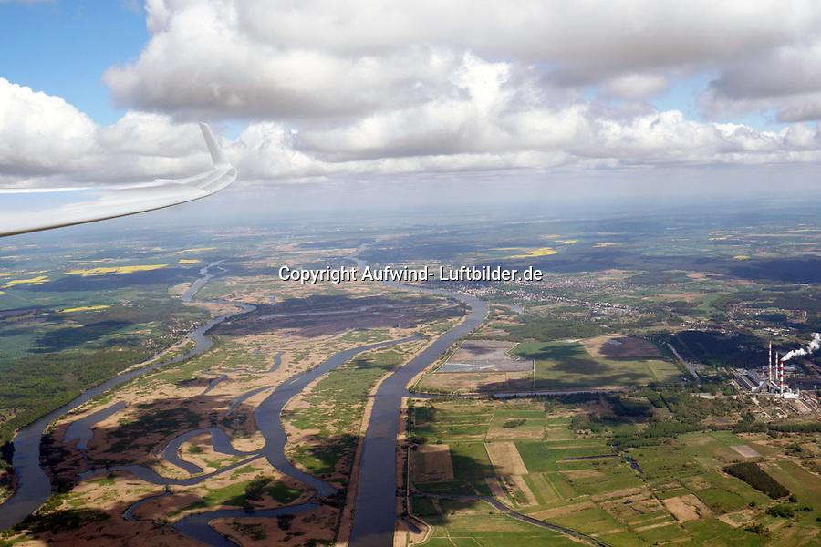 Überflug der Oder bei Stettin in Richtung Polen bei Holger weitzels 1000 Kilometer Flug