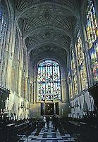 Cambridge: King's College Chapel--looking toward altar. Photo '82.