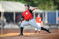 Joe Serafin Kannapolis Intimidators (Chicago White Sox) delivers a pitch at McCormick Field August 13, 2009 in Asheville, NC (Photo by Tony Farlow/Four Seam Images)