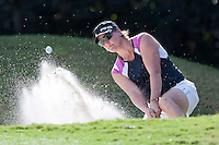 November 20, 2011: Maria Hjorth (Sweden) hits out off the green side on bunker on the 4th hole during final round golf action from the CME Group Titleholders held at The Grand Cypress Resort, Orlando, Fla.