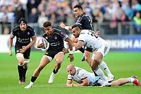 Anthony Watson of Bath Rugby takes on the Brive defence. European Rugby Challenge Cup Quarter Final, between Bath Rugby and CA Brive on April 1, 2017 at the Recreation Ground in Bath, England. Photo by: Patrick Khachfe / Onside Images