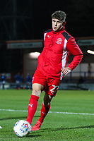 Harrison Biggins of Fleetwood Town warms uo before the Sky Bet League 1 match between Rochdale and Fleetwood Town at Spotland Stadium, Rochdale, England on 20 March 2018. Photo by Thomas Gadd.