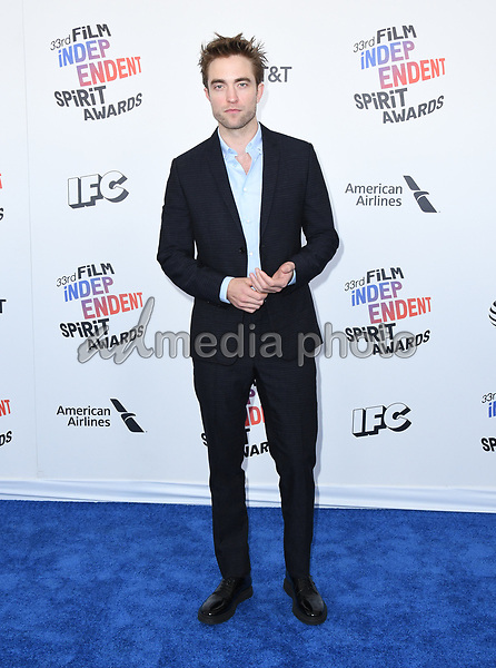 03 March 2018 - Santa Monica, California - Robert Pattison. 2018 Film Independent Spirit Awards -Arrivals, held at the Santa Monica Pier. Photo Credit: Birdie Thompson/AdMedia