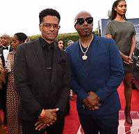 SANTA MONICA - JUNE 1: Eric Benet and MC Hammer attend the 3rd Annual Wearable Art Gala at Barker Hangar on June 1, 2019 in Santa Monica, California. (Photo by Frank Micelotta/PictureGroup)