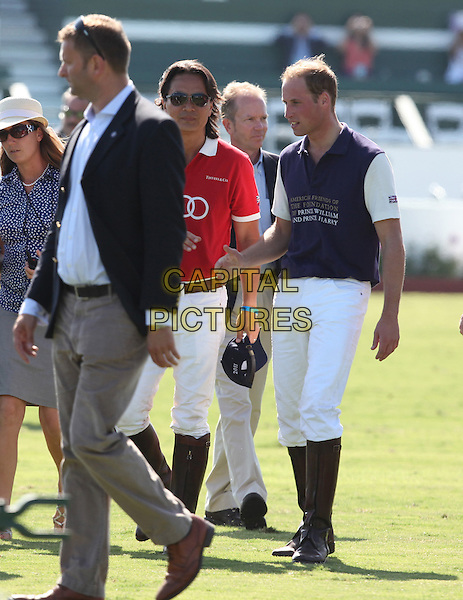 Prince William, Duke of Cambridge.Audi At The Foundation Polo Challenge held at the Santa Barbara Polo & Racquet Club, Santa Barbara, California, USA, 9th July 2011..full length royal royalty tour white trousers boots .CAP/ADM/KB.©Kevan Brooks/AdMedia/Capital Pictures.