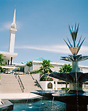 MALAYSIA, Kuala Lumpur, view of Negara National Mosque with fountain in foreground