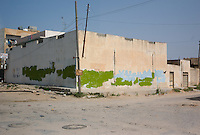 Zawiya, Libya, April 3, 2011..Graffitis against Khaddafi's regime where everywhere to be seen in Zawiya, they have all been erased as Khaddafi's forces regained control of the city...