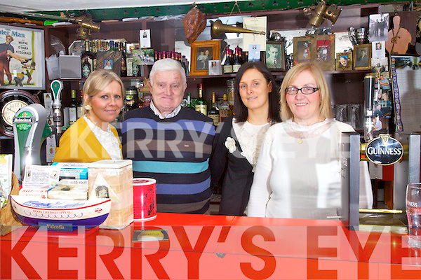 The Galvin Family from The Black Shop in Castlecove celebrated 40 years in operation on Saturday night last pictured l-r; Claire, Brendan, Cathleen & Carmel Galvin.....Ref Sinead - Story