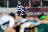 Ben Tapuai of Bath Rugby watches a scrum. Aviva Premiership match, between Bath Rugby and Northampton Saints on February 10, 2017 at the Recreation Ground in Bath, England. Photo by: Patrick Khachfe / Onside Images