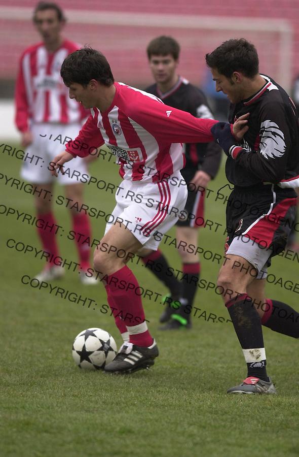 SPORT FUDBAL CRVENA ZVEZDA ZELEZNIK LAVOVI 3.3.2004. Marko Pantelic foto: Pedja Milosavljevic<br />