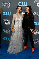 Zoe Kazan (l) and Maya Kazan attend the 23rd Annual Critics' Choice Awards at Barker Hangar in Santa Monica, Los Angeles, USA, on 11 January 2018. Photo: Hubert Boesl - NO WIRE SERVICE - Photo: Hubert Boesl/dpa /MediaPunch ***FOR USA ONLY***