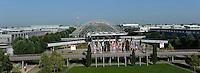 World Skills / WorldSkills 2013 in Leipzig - WM der Berufe - gehen gemeinsam in die Luft - Flug mit dem Zeppelin über die Neue Messe Leipzig / Messeglände Leipzig / Glashalle / trade fair / Messe / Luftaufnahme / Luftbild..  Foto: Norman Rembarz