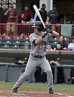 May 10, 2004:  Nate McLouth of the Altoona Curve, Double-A affiliate of the Pittsburgh Pirates, during a game at Jerry Uht Park in Erie, PA.  Photo by:  Mike Janes/Four Seam Images