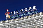 Tio Pepe sign,  Gonzalez Byass sherry, Plaza de la Puerta del Sol, Madrid city centre, Spain