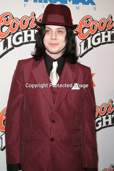 Jack White<br />&ldquo;Cold Mountain&rdquo; Premiere Los Angeles<br />Mann National Theater<br />Westwood, CA, USA<br />Sunday, December 07, 2003 <br />Photo By Celebrityvibe.com/Photovibe.com