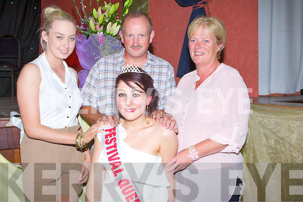 FAMILY: Niamh Tynan the 2011 Queen of Ballyheigue Summer Festival meets upwith her family after she was chosen as 2011 Queen of ballyheigue Summer Festival, Ailing, John and Mary Tynan.......................