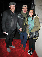 David Ganly and Ciaran Hinds and guest at the &quot;Girl From The North Country&quot; press night, Noel Coward Theatre, St Martin's Lane, London, England, UK, on Thursday 11 January 2018.<br /> CAP/CAN<br /> &copy;CAN/Capital Pictures