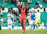 Celtic v St Johnstone &hellip;26.08.17&hellip; Celtic Park&hellip; SPFL<br />Alan Mannus applauds the fans at full time<br />Picture by Graeme Hart.<br />Copyright Perthshire Picture Agency<br />Tel: 01738 623350  Mobile: 07990 594431