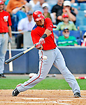 5 March 2011: Washington Nationals' infielder Ian Desmond in action during a Spring Training game against the New York Yankees at George M. Steinbrenner Field in Tampa, Florida. The Nationals defeated the Yankees 10-8 in Grapefruit League action. Mandatory Credit: Ed Wolfstein Photo