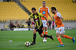 Wellington Phoenix&rsquo; Nathan Bums in action during the A League - Wellington Phoenix v Brisbane Roar FC at Westpac Stadium, Wellington, New Zealand on Sunday 25 March 2018.<br /> Photo by Masanori Udagawa. <br /> www.photowellington.photoshelter.com