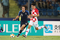 Matteo Guendouzi of France and Josip Brekalo of Croatia compete for the ball<br /> Serravalle 21-06-2019 Stadio San Marino Stadium <br /> Football UEFA Under 21 Championship Italy 2019<br /> Group Stage - Final Tournament Group C<br /> France - Croatia<br /> Photo Cesare Purini / Insidefoto