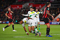 Onel Hernandez of Norwich City scores and celebrates during AFC Bournemouth vs Norwich City, Caraboa Cup Football at the Vitality Stadium on 30th October 2018