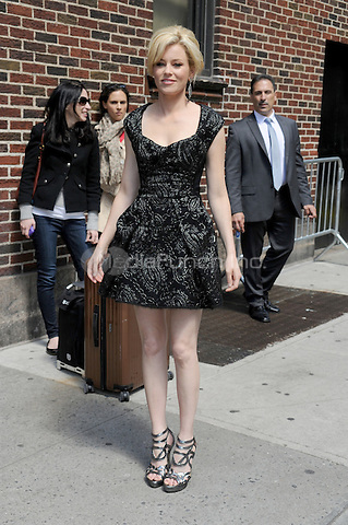 Elizabeth Banks at Late Show with David Letterman in New York City. May 10, 2012.. Credit: Dennis Van Tine/MediaPunch