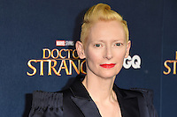 LONDON, UK. October 24, 2016: Tilda Swinton at the &quot;Doctor Strange&quot; launch event at Westminster Abbey, London.<br /> Picture: Steve Vas/Featureflash/SilverHub 0208 004 5359/ 07711 972644 Editors@silverhubmedia.com