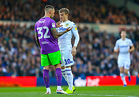 An angry exchange between Leeds United's Ezgjan&nbsp;Alioski and Bristol City's Jack Hunt<br /> <br /> Photographer Alex Dodd/CameraSport<br /> <br /> The EFL Sky Bet Championship - Leeds United v Bristol City - Saturday 24th November 2018 - Elland Road - Leeds<br /> <br /> World Copyright &copy; 2018 CameraSport. All rights reserved. 43 Linden Ave. Countesthorpe. Leicester. England. LE8 5PG - Tel: +44 (0) 116 277 4147 - admin@camerasport.com - www.camerasport.com