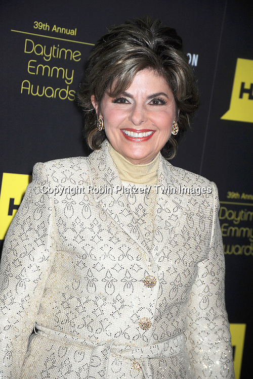 Gloria Allred attends the 39th Annual Daytime Emmy Awards on June 23, 2012 at the Beverly Hilton in Beverly Hills, California. The awards were broadcast on HLN.