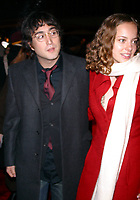 SEAN LENNON_BIJOU PHILLIPS<br /> K27928JBB             SD1205 <br /> THE WORLD PREMIERE OF THE LORD OF THE RINGS THE TWO TOWERS AT THE ZIEGFELD THEATRE IN NEW YORK CITY <br /> PHOTO BY:J John Barrett/ PHOTOlink.net/ MediaPunch &copy;2002