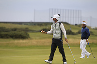 Alejandro Canizares (ESP) on the 16th green during Round 4 of the 2015 Alfred Dunhill Links Championship at the Old Course in St. Andrews in Scotland on 4/10/15.<br /> Picture: Thos Caffrey | Golffile
