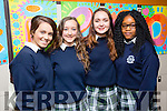 Presentation Secondary Tralee Graduations on Friday pictured l-r  Grainne Linnane, Ina Dema, Marie Buckley and Taffy Mutokoro