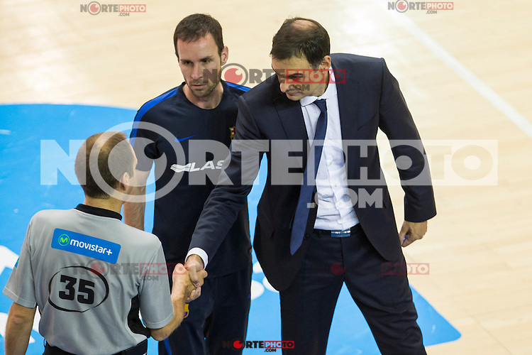 FC Barcelona Lassa's Georgios Bartzokas during the match of Endesa ACB League between Fuenlabrada Montakit and FC Barcelona Lassa at Fernando Martin Stadium in fuelnabrada,  Madrid, Spain. October 30, 2016. (ALTERPHOTOS/Rodrigo Jimenez) /NORTEPHOTO.COM