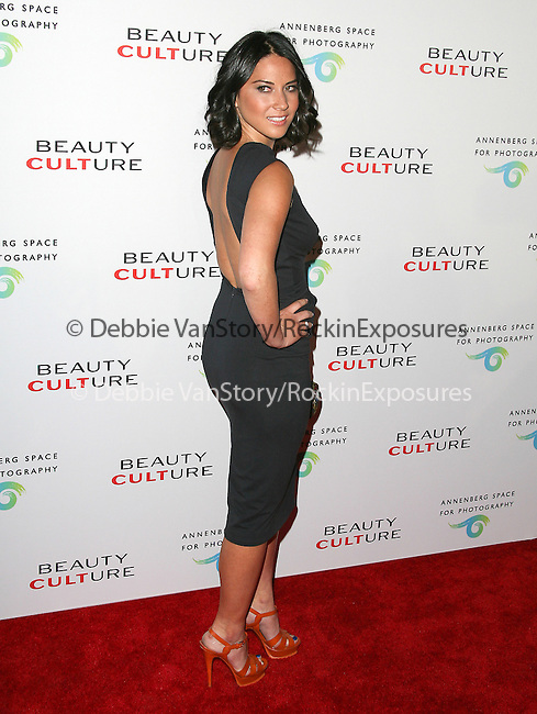 Olivia Munn at The opening of BEAUTY CULTURE, a photographic exploration of how feminine beauty is defined, challenged and revered in modern society held at Annenberg Space for Photography in Century City, California on May 19,2011                                                                               © 2011 Hollywood Press Agency