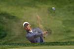 JEJU, SOUTH KOREA - APRIL 24:  Anthony Kim of USA plays a bunker shot on the 12th hole during the Round Two of the Ballantine's Championship at Pinx Golf Club on April 24, 2010 in Jeju island, South Korea. Photo by Victor Fraile / The Power of Sport Images