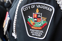 City of Vaughan Police badge is seen during a police memorial parade in Ottawa Sunday September 26, 2010.