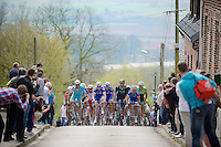 peloton coming up the Casselberg (in Cassel, France)<br /> <br /> Gent-Wevelgem 2014