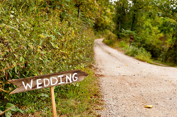 Hand-lettered signs were still in place, marking the path to a wedding that was held at Mountain Cove Vineyards the day before we visited.