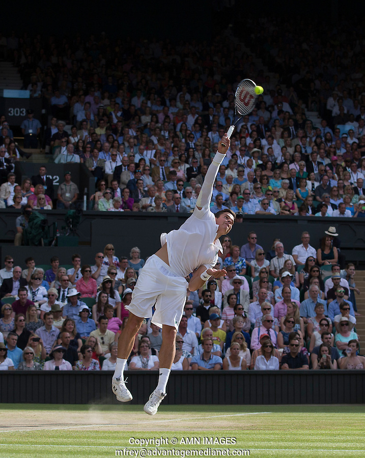 MILOS RAONIC (CAN)<br /> The Championships Wimbledon 2014 - The All England Lawn Tennis Club -  London - UK -  ATP - ITF - WTA-2014  - Grand Slam - Great Britain -  4th July  2014. <br /> <br /> © AMN IMAGES