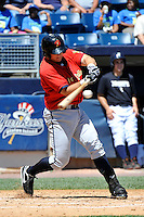 State College Spikes third baseman Walker Gourley #7 during a game against the Staten Island Yankees at Richmond County Bank Ballpark at St. George on July 14, 2011 in Staten Island, NY.  Staten Island defeated State College 6-4.  Tomasso DeRosa/Four Seam Images