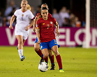 HOUSTON, TX - FEBRUARY 03: Melissa Herrera #7 of Costa Rica during a game between Costa Rica and USWNT at BBVA Stadium on February 03, 2020 in Houston, Texas.
