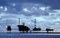 North Sea gas production platform complex.