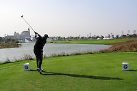 Shane Lowry (IRL) tees off the 18th tee during Sunday's Final Round of the 2014 BMW Masters held at Lake Malaren, Shanghai, China. 2nd November 2014.<br /> Picture: Eoin Clarke www.golffile.ie