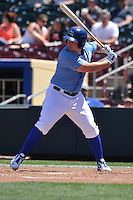 Omaha Storm Chasers Travis Snider (22) bats during the Pacific Coast League game against the Nashville Sounds at Werner Park on June 5, 2016 in Omaha, Nebraska.  Omaha won 6-4.  (Dennis Hubbard/Four Seam Images)