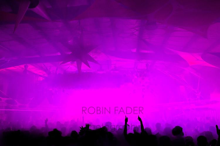 crowd, festival, laser, lights, purple, hands, Nightmare Festival, music, EDM music, EDM, smokey, staging,